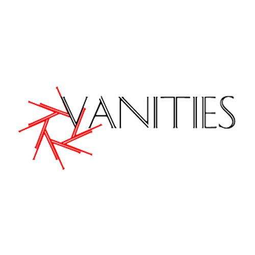 VANITIES 1621A1  Sandalo nero con punta quadrata e lacci nero pelle tacco lucido 8 cm
